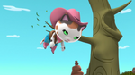 Sheriff Callie hanging from a tree