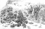 Disney Dinosaur gathering together concept