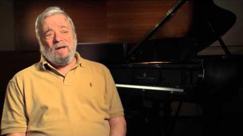 """Into the Woods Stephen Sondheim """"Music & Lyrics"""" Behind the Scenes Movie Interview"""