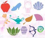 Symbols of the disney princesses