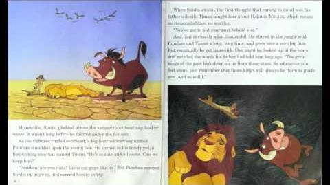"""""""The Lion King"""" - Read along (Book and Record) - Disney"""