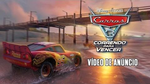 Carros 3 Correndo Para Vencer – Vídeo de Anúncio