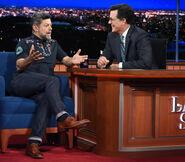 Andy Serkis visits Stephen Colbert