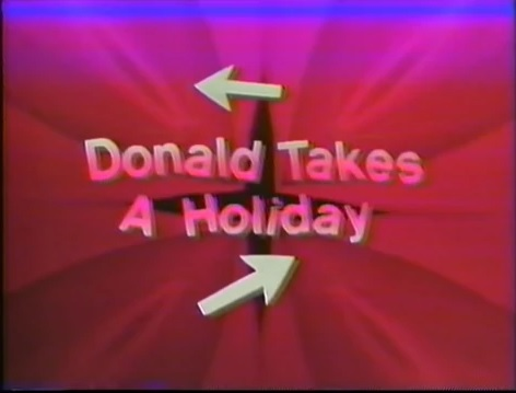Donald Takes a Holiday