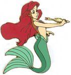 Little Mermaid Wooden Boxed Pin Set (Ariel Holding a Fish Bone Pen)