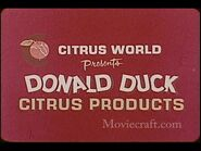 Citrus World presents Donald Duck Citrus Products 1965