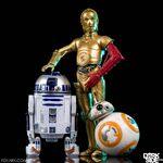 C-3PO, R2-D2 and BB-8 - Black Series
