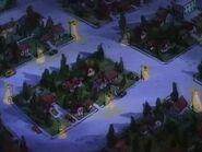 Goof Troop - Spoonerville Residential Neighborhood Aerial View at Night