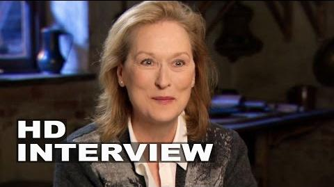 "Into the Woods Meryl Streep ""Witch"" Behind the Scenes Movie Interview 1"