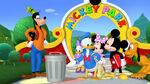 Goofy and donald found a trash can