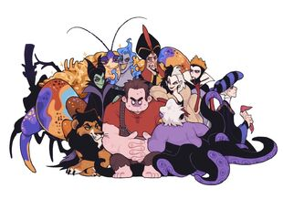 Ralph with the Disney Villains
