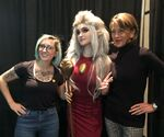 Dana and Wendie with a Eda cosplayer
