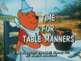 Time for Table Manners