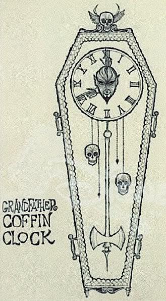 Grandfather Coffin Clock