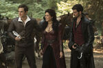 Once Upon a Time - 7x03 - The Garden of Forking Paths - Photography - Henry, Regina and Hook