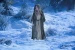 Aurora Walking in Snow