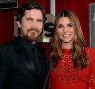 Christian Bale and wife Sibi at SAG awards