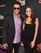 Corbin Bleu & wife Sasha Clemons Descendants premiere