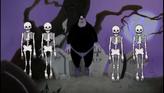 Pete doing the Skeleton Dance