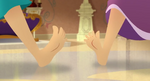 Rapunzel & Willow feet gestures