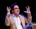 Roger Bart speaks onstage at JHA