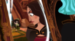 Gothel telling young Cassandra to sweep quieter