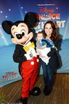 Lacey Chabert with Julia and Mickey Mouse