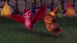 Indigo and Lily as owls