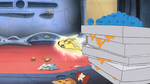 Zap zooming around Gantu's ship