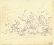 Disney's Dumbo - The Crows - Production Drawing with the Character Notes