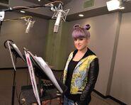 Kelly Osbourne recording Hildy's voice
