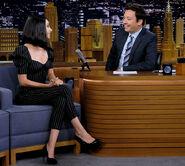 Mila Kunis visits Jimmy Fallon