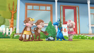 Stuffy, lambie, officer pete, ben and anna