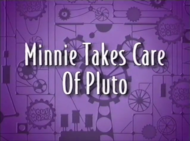 Minnie Takes Care of Pluto