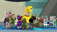 NOAF - The finkies and speckies laugh as they put Candace, dressed as Ducky Momo down