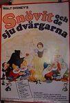Snow white swedish poster 1980s