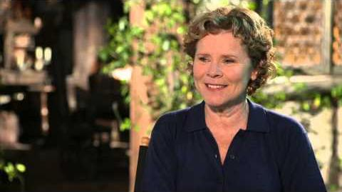 "Maleficent Imelda Staunton ""Knotgrass"" On Set Movie Interview"