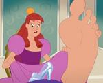 Anastasia's large foot