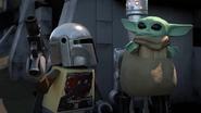 Mando, Grogu ja IG-11 taistelussa (Lego Star Wars special)