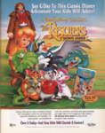The Rescuers Down Under VHS promotional image