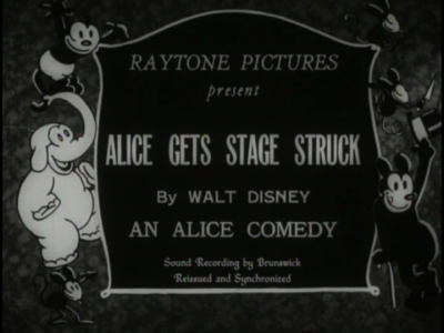 Alice Gets Stage Struck