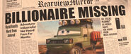 Cars 2 miles axlerod missing newspaper 2