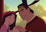 Mulán y Shang después de casarse