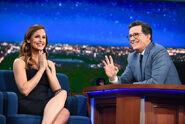 Jennifer Garner visits Stephen Colbert