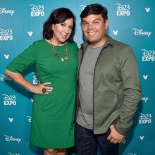 Robert & Kristen Lopez at D23.jpg