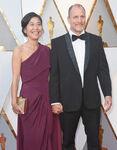Woody Harrelson & wife Laura Louie 90th Oscars