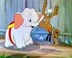 Pluto held up by a baby elephant Bobo