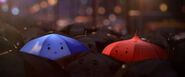 Blue-umbrella-and-red-umbrella