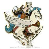 Goofy as Hercules riding Pegasus