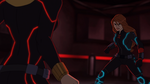 Black Widow (Assemble) vs Crimson Widow Showdown - Crimson Widow Back